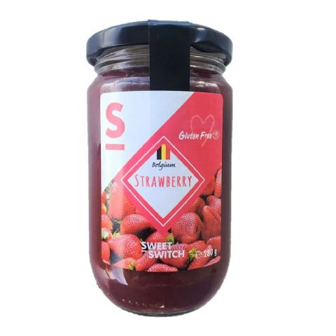 Strawberry 55% Fruit Spread Diabetic Jam No Added Sugar Free Stevia SWEET SWITCH 280g